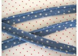 Paspelband blau weiß Sternchen