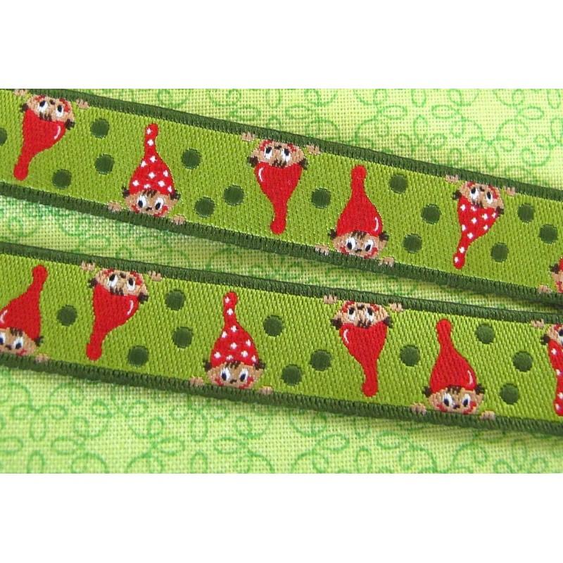 webband zwerge farbenmix rot grün  hettyrosepatch