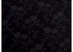 Patchworkstoff Blumenranken schwarz