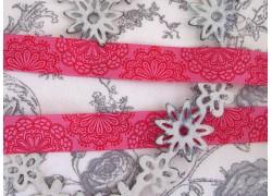 Webband Spitzenwerk rot pink Farbenmix