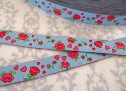 Rosenband blau pink Farbenmix