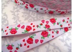 Rosenband weiß pink Farbenmix