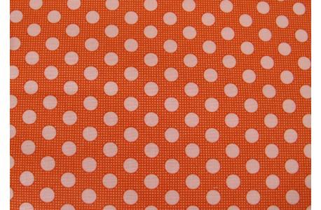 Tildastoff Punkte orange