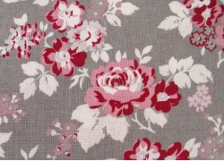 Patchworkstoff Rosenstoff grau rosa
