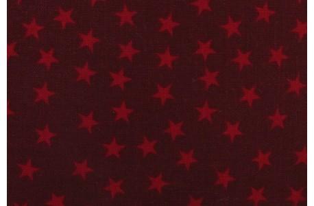 Weihnachten Stoff Sterne rot