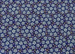 Tildastoff Blümchen blau