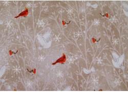 Weihnachten Patchworkstoff Vögel