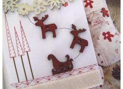 Rentiere Holz Weihnachten