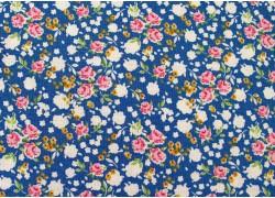 Tilda Stoff Röschen blau pink