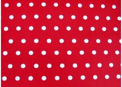 Wachstzuch Punkte rot weiß