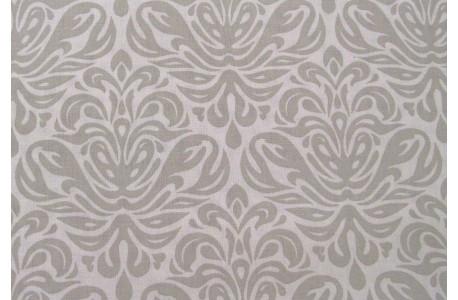 Wachstuch Ornamente grau weiß