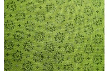Patchworkstoff Kreise grün