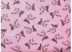 Kinderstoff Häschen rosa Patchworkstoff