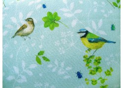 Daniela Drescher Baumwollstoff Vogelwelt grün