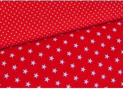 Stoffpaket Sternchen Puntke rot weiß
