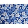 Fat Quarter Nelken blau