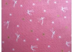 Patchworkstoff Elfenstoff rosa gold