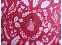 Patchworkstoff Kinderstoff rosa gold