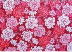 Patchworkstoff Blumen Nelken rosa pink