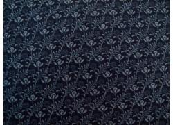 Stoff Blumen dunkel blau stilisiert Moda Patchworkstoff