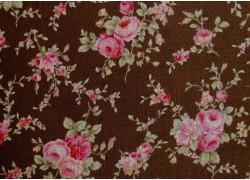 Fat Quarter Rosenstoff rosa gün braun von Lecien