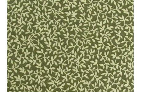 Fat Quarter kleine Blümchen Blätter grün Patchworkstoff
