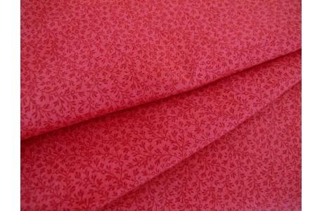 Streublümchenstoff Patchworkstoff korallen rot
