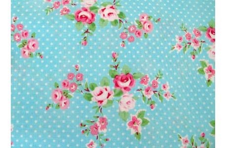 Patchworkstoff Rosenstoff Tanya Whelan blau rosa