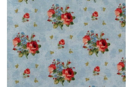 Fat Quarter Rosenstoff Vintage Rose