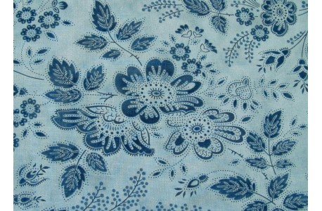 Patchworkstoff Stoff Blumen blau Holly Woods