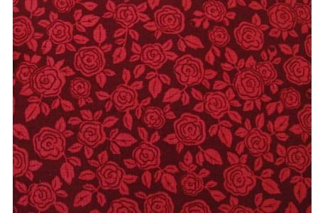 Stoff Rosen rot Patchworkstoff Hedge Rose