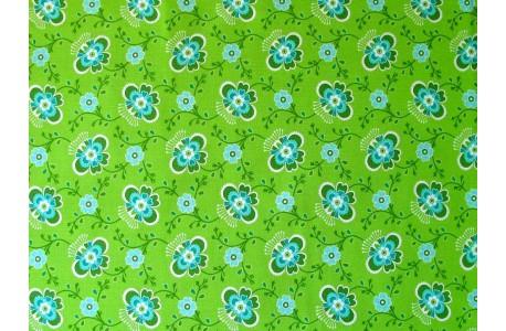 Stoff Blumen grün türkis Fat Quarter