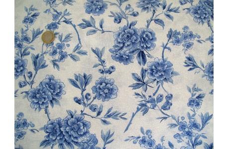 Stoff Blumen blau weiß Moda Regency Ballycastle