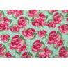 Stoff Rosen Baumwollstoff grün rosa Kim