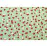 Stoff Streublümchen Baumwollstoff grün rosa Kim