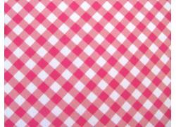 Baumwollstoff Karostoff rosa weiß Kim