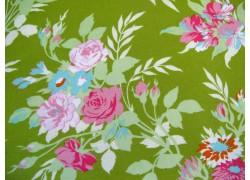 Stoff Rosen grün Tanya Whelan Darling Meadow