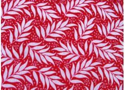 Stoff Tilda Blätter Beeren Berry Leaf Red