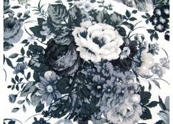 Stoff Rosen schwarz grau weiß Patchworkstoff