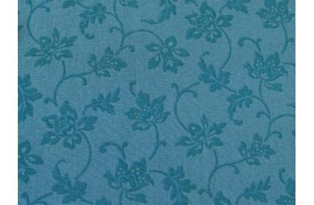 Stoff Blumen türkis colorwall
