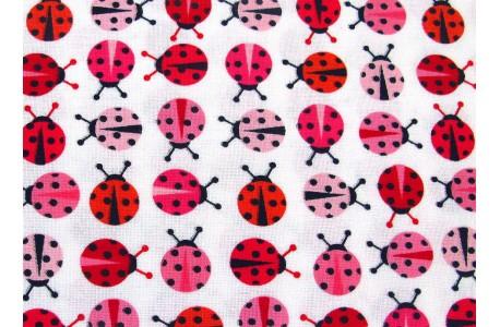 Stoff Marienkäfer rot rosa Urban Zoologie Minis