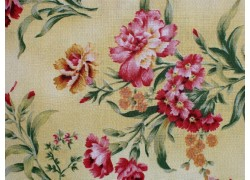 Fat Quarter Blumen Nelken gelb rosa