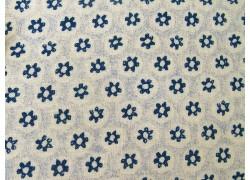 Stoff Blümchen blau Honeycomb