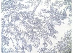 Stoff Blumen blau Staples IV