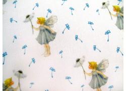Kinderstoff Daniela Drescher Elfenstoff blau gelb Pusteblume