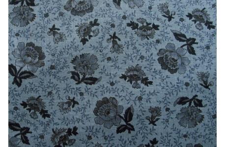 Stoff Blumen blau Fat Quarter