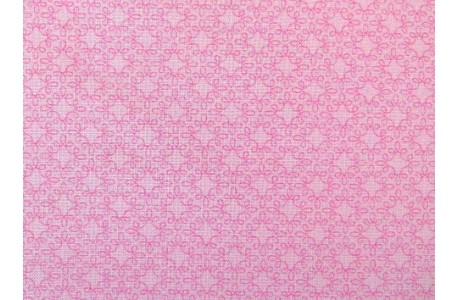 Ornamentstoff Patchworkstoff rosa