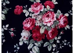 Patchworkstoff Rosen Bouquet schwarz