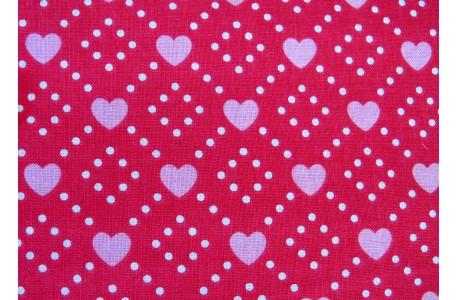 Stoff Herzchen rosa Hello Sweetheart