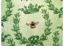 Stoff Bienen grün Le Bouquet